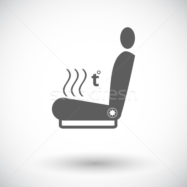 Icon heated seat. Stock photo © smoki
