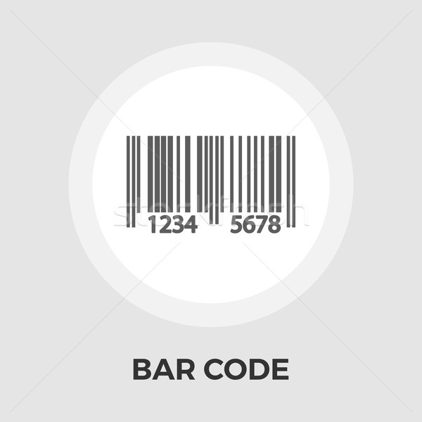 Bar code flat icon Stock photo © smoki
