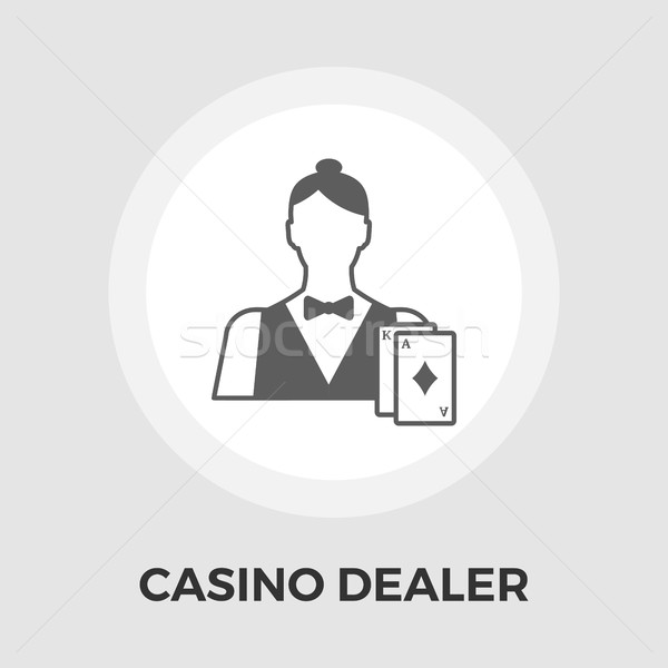 Casino Dealer Flat Icon Stock photo © smoki
