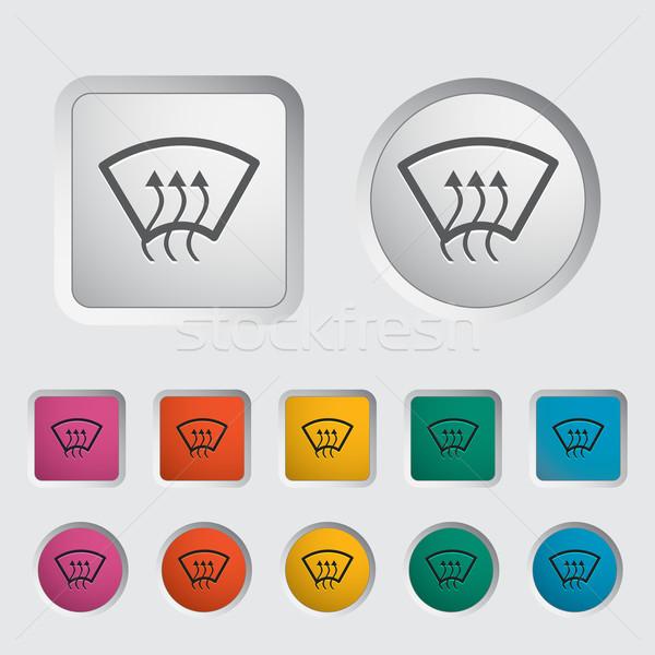 加熱 ガラス アイコン デザイン 緑 色 ストックフォト © smoki