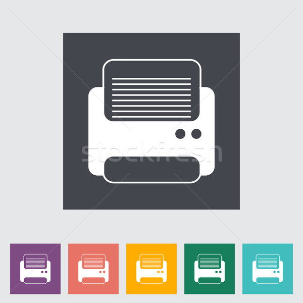 Stock photo: Printer flat icon.