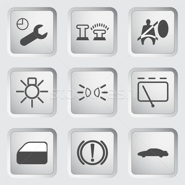 автомобилей приборная панель иконки панель управления набор стекла Сток-фото © smoki