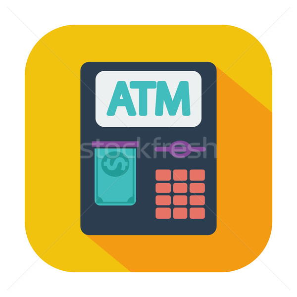 ATM ikon renk iş para klavye Stok fotoğraf © smoki