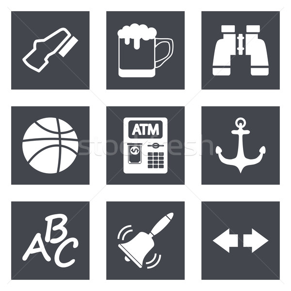Icons for Web Design and Mobile Applications set 4 Stock photo © smoki