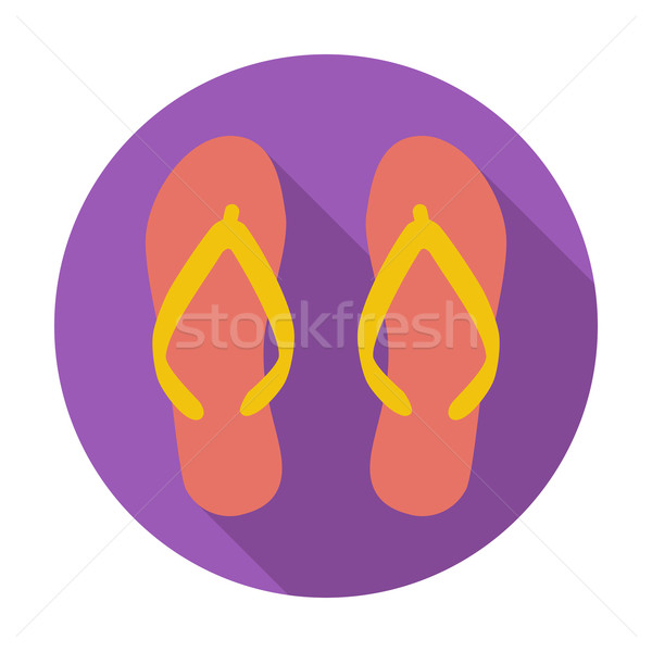 Strand slippers kleur icon mode kunst Stockfoto © smoki