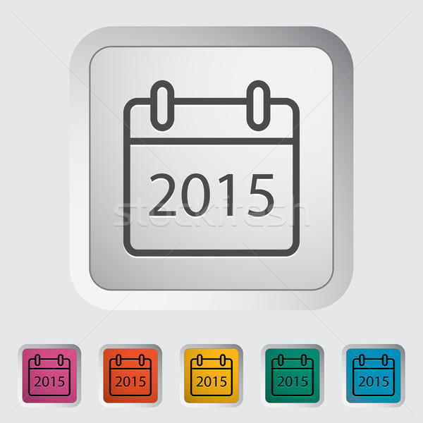 Calendar stroke icon Stock photo © smoki