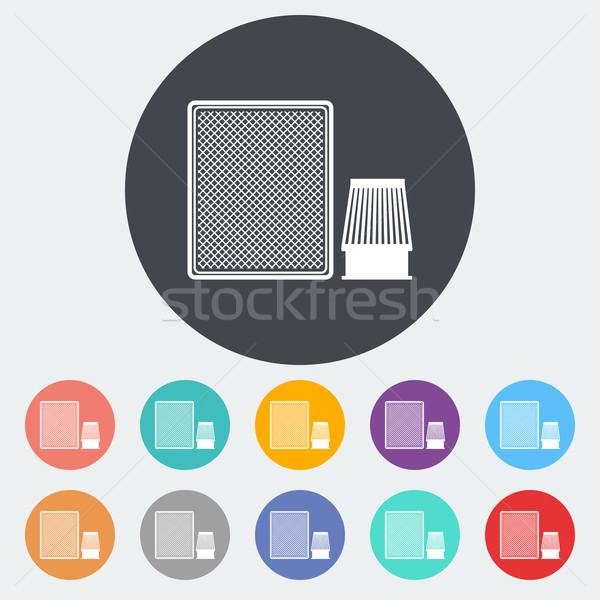 Automobilowy filtrować ikona kółko technologii sklep Zdjęcia stock © smoki