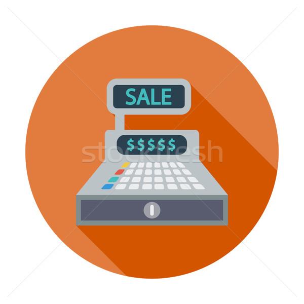 Kassa kleur icon geld technologie toetsenbord Stockfoto © smoki