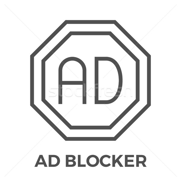 AD Blocker icon Stock photo © smoki