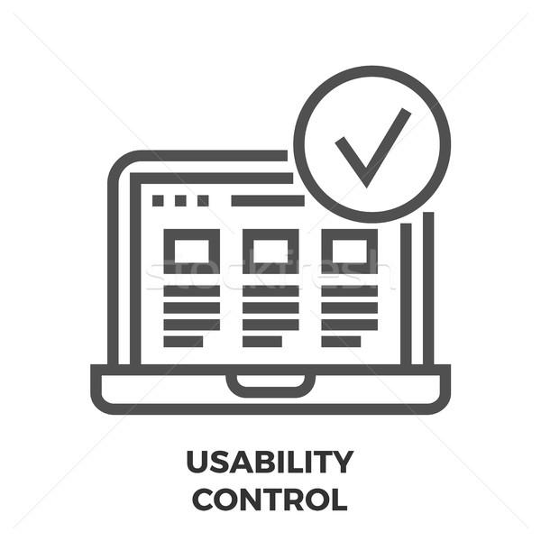 Usability Control Line Icon Stock photo © smoki