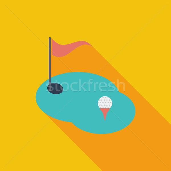 Golf flat single icon. Stock photo © smoki