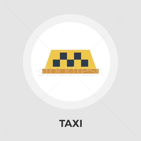 Taxi vector flat icon Stock photo © smoki