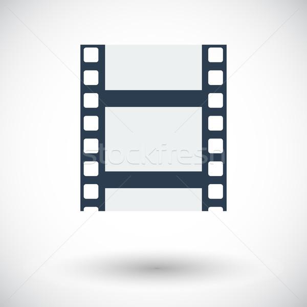 Photo stock: Icône · blanche · suivre · film · vidéo · cinéma
