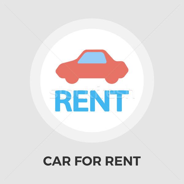 Сток-фото: автомобилей · аренда · икона · вектора · изолированный · белый