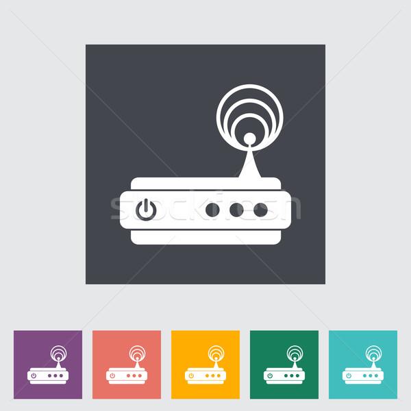 Router ikon számítógép technológia háló festmény Stock fotó © smoki