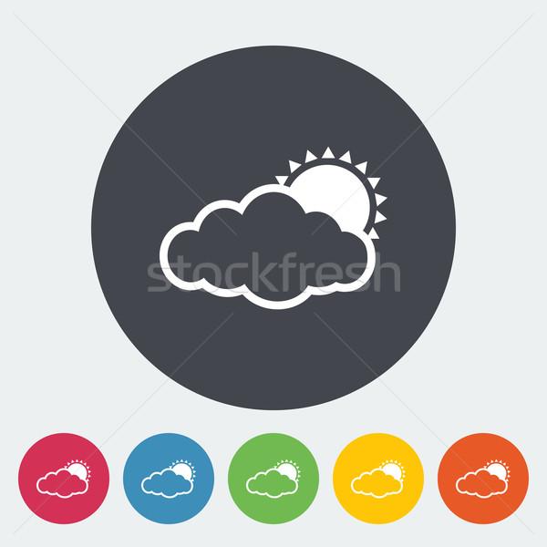 Cloudiness single flat icon. Stock photo © smoki