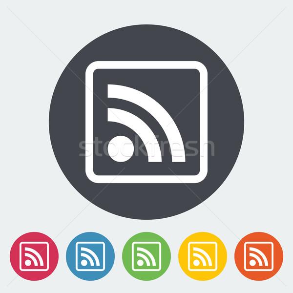 Rss ikona kółko Internetu sztuki wiadomości Zdjęcia stock © smoki