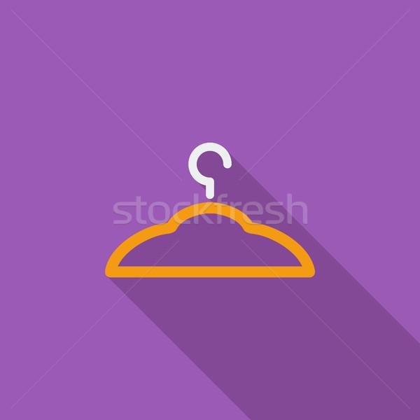 Hanger icon vector lang schaduw web Stockfoto © smoki