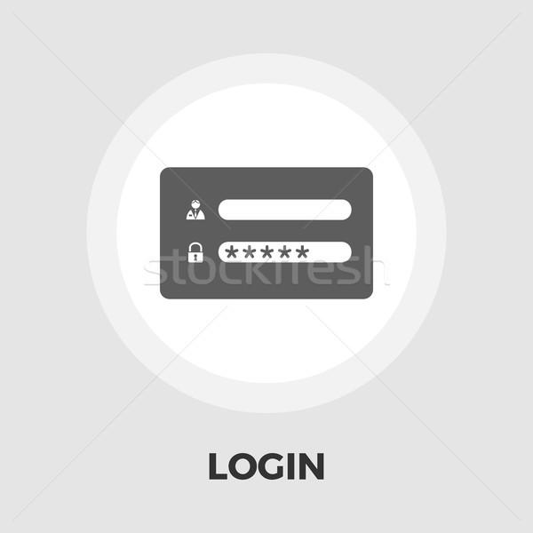 Login ícone vetor isolado branco Foto stock © smoki