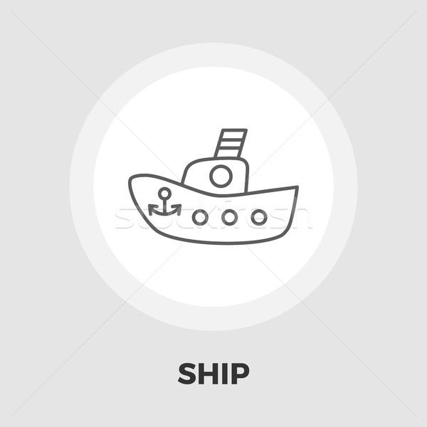 Ship toy vector flat icon Stock photo © smoki