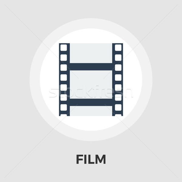 映画 ベクトル アイコン 孤立した 白 ストックフォト © smoki
