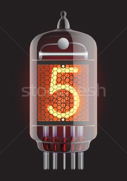 Radyo tüp numara beş Retro Stok fotoğraf © smoki