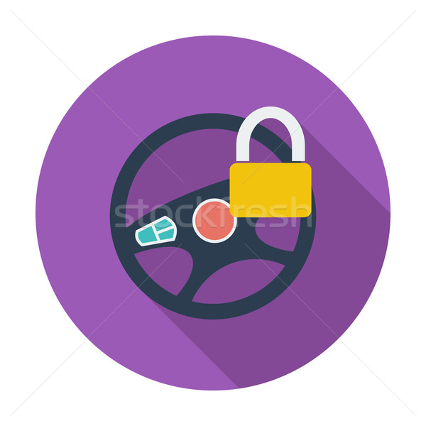 Auto stuur icon kleur ontwerp technologie Stockfoto © smoki