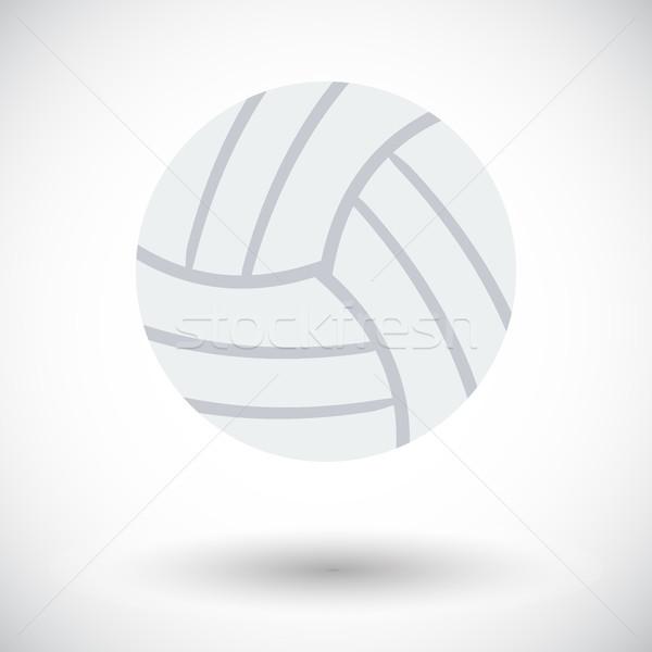 Voleibol ícone branco praia escolas projeto Foto stock © smoki