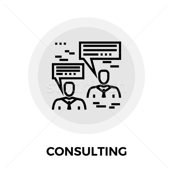 Consulting Line Icon Stock photo © smoki
