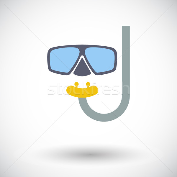 Duiken icon witte strand water sport Stockfoto © smoki