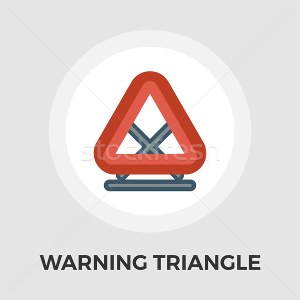 Warning triangle vector flat icon Stock photo © smoki