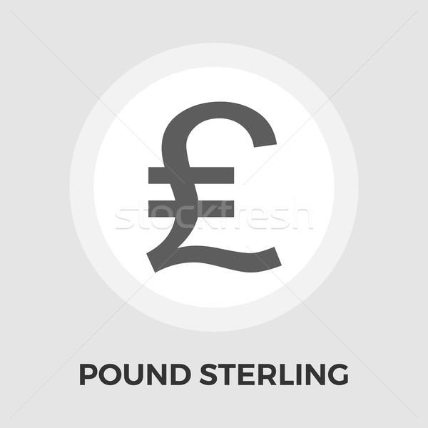 Pound sterling vector flat icon Stock photo © smoki