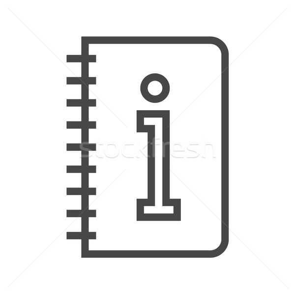 Instruction Book Thin Line Vector Icon Stock photo © smoki