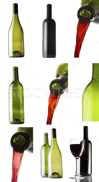 Foto stock: Vinho · conjunto · branco · festa · beber · champanhe