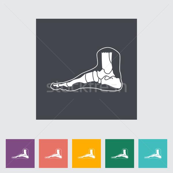 Voet anatomie icon medische lichaam kunst Stockfoto © smoki