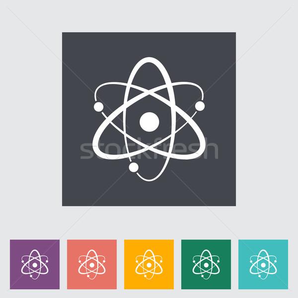 Atom flat icon Stock photo © smoki