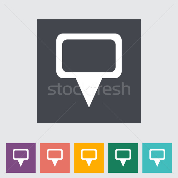 Map pointer single flat icon. Stock photo © smoki