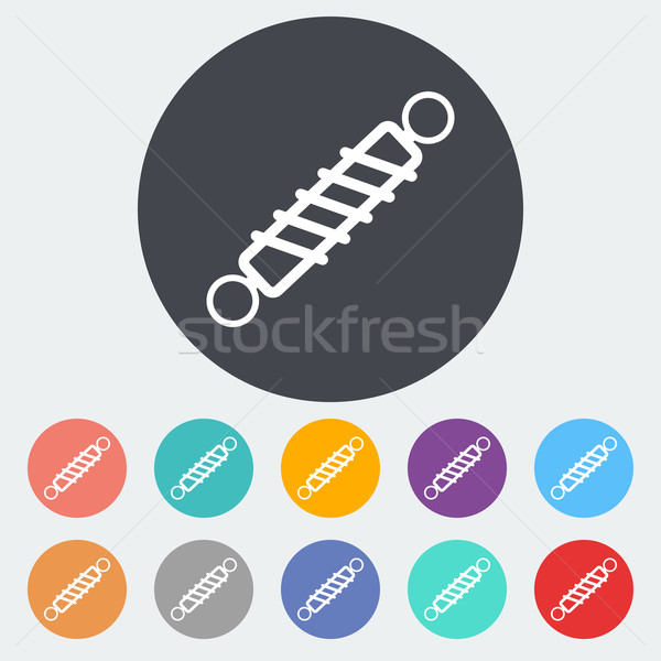Automobile shock absorber single icon. Stock photo © smoki