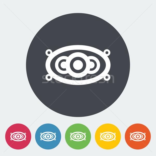 Foto stock: ícone · carro · alto-falantes · círculo · música · projeto