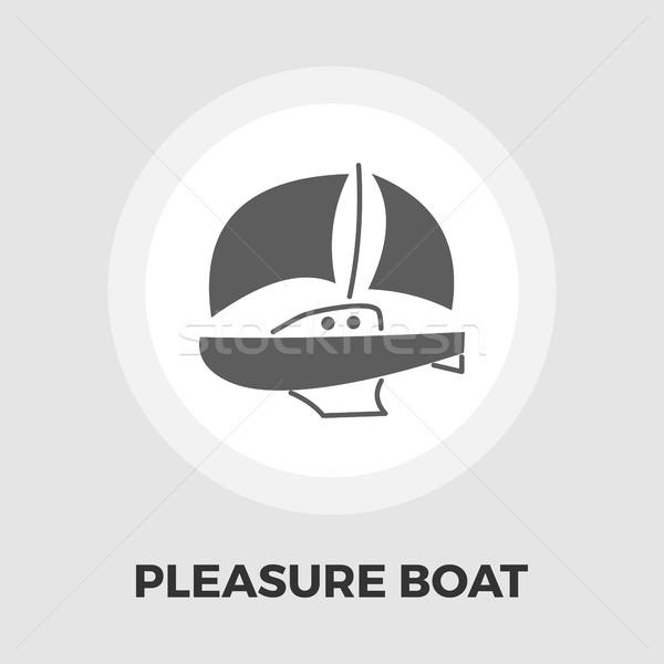 Przyjemność łodzi ikona wektora odizolowany biały Zdjęcia stock © smoki