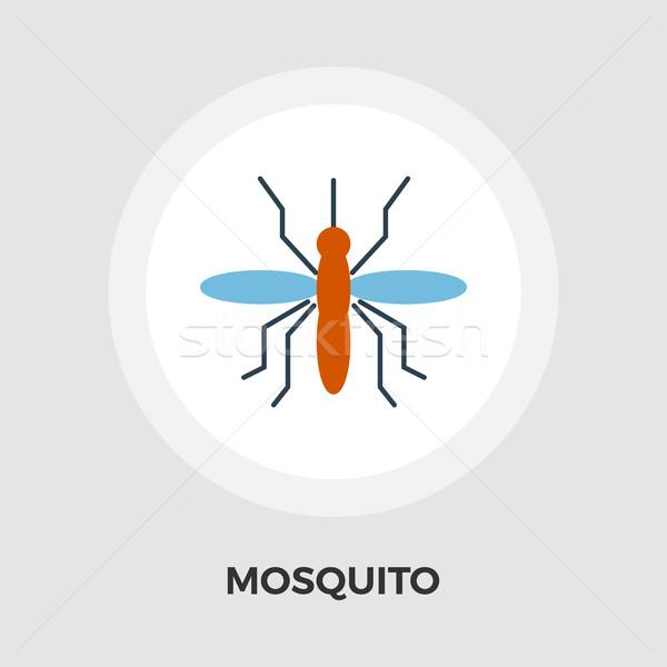 Sivrisinek vektör ikon yalıtılmış beyaz düzenlenebilir Stok fotoğraf © smoki