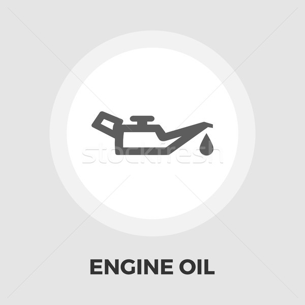 Engine oil flat icon Stock photo © smoki