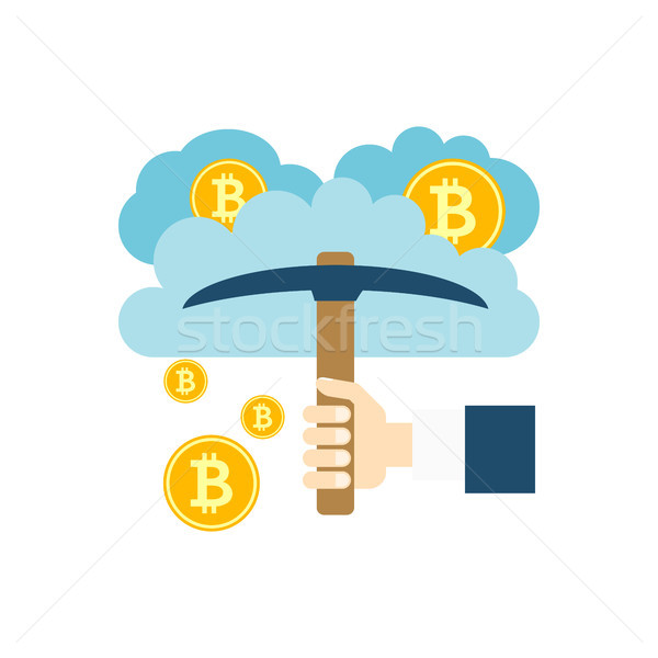 Cloud Mining Vector Icon Stock photo © smoki