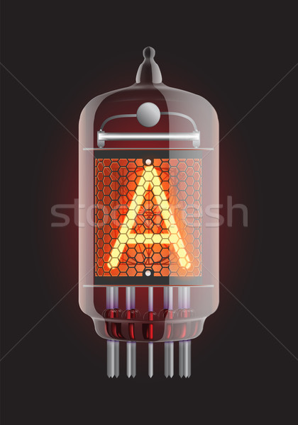 Nixie tube indicator. Stock photo © smoki