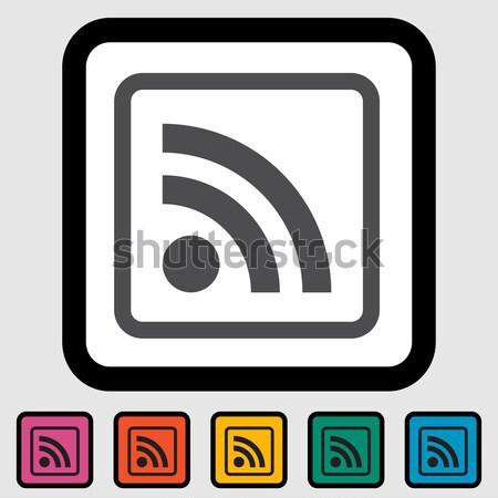 Rss ikona Internetu sztuki wiadomości pomarańczowy Zdjęcia stock © smoki
