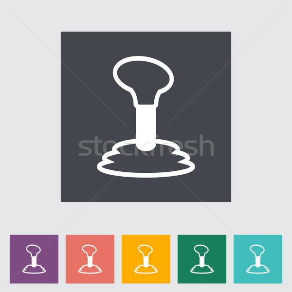 Gearbox flat single icon. Stock photo © smoki