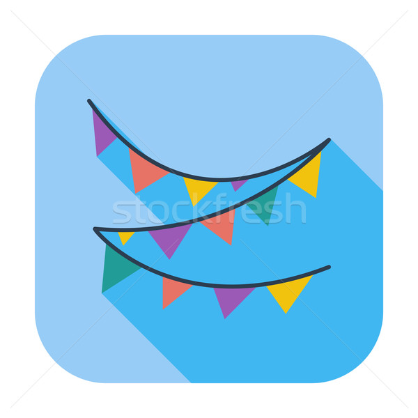 Bunting icon Stock photo © smoki