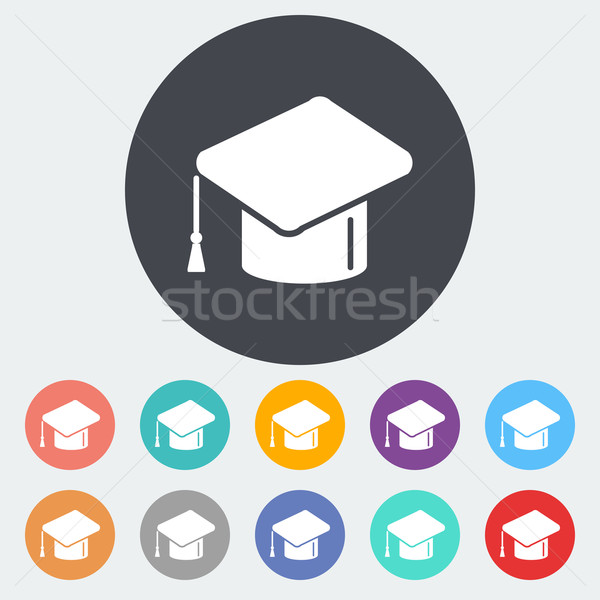 Educação ícone círculo papel escolas pintura Foto stock © smoki