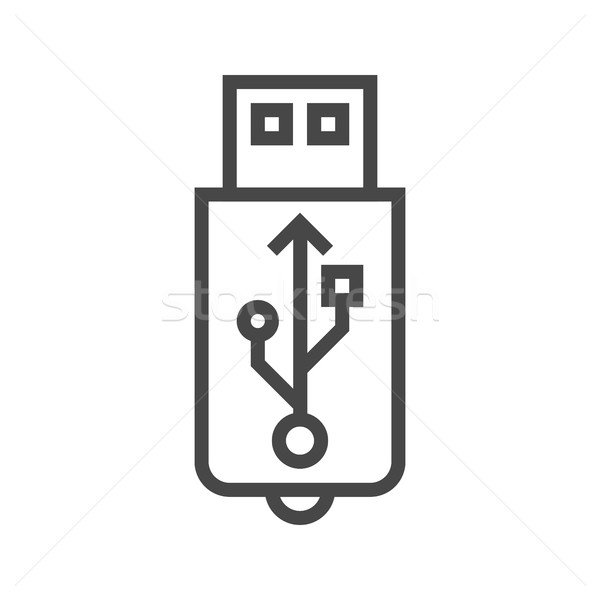 USB Line Icon Stock photo © smoki