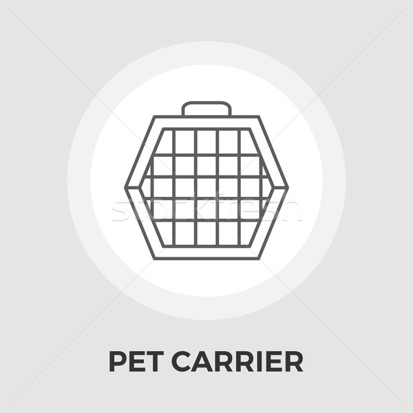 Pet Carrier Flat Icon Stock photo © smoki